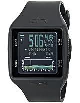 Vestal Men's BRG001 Brig Tide and Train All Black Digital Polyurethane Surf Watch