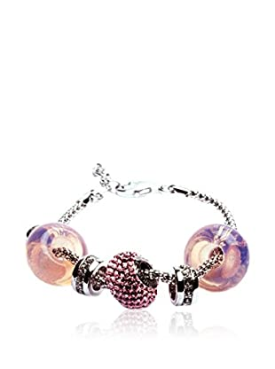 SWAROVSKI ELEMENTS Pulsera Beads Rosa