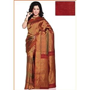 Utsav Fashion Kanchipuram Silk Saree Green