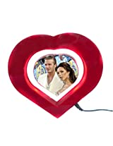 "Magnetic Levitation Floating Photo Frame Rotating In Air (5"" Heart Shaped)"