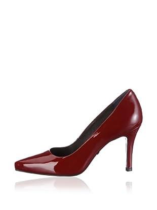 Buffalo London 18445-867 PATENT SOFT 120723 - Zapatos de vestir de charol  mujer (Rojo)