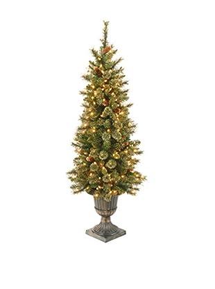 National Tree Company 4' Glittery Gold Pine Entrance Tree