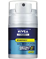 Nivea for Men Q10 Energy Gel Moisturizer 1.7 Oz (Pack of 3)