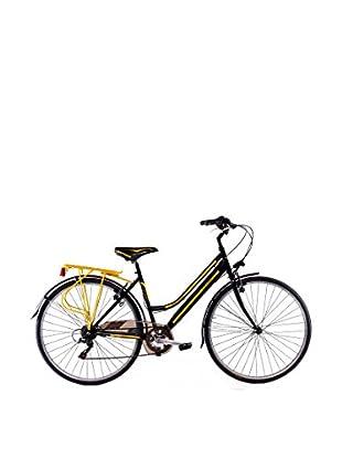 Schiano Cicli Bicicleta 28 Trekking 3.0 06V. Negro / Amarillo