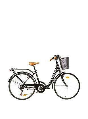 MOMA BIKES Fahrrad 26 Alu 18V City Classic schwarz