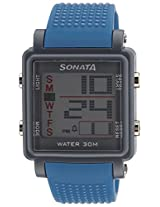 Sonata Super Fibre Digital Grey Dial Men's Watch - 77043PP04