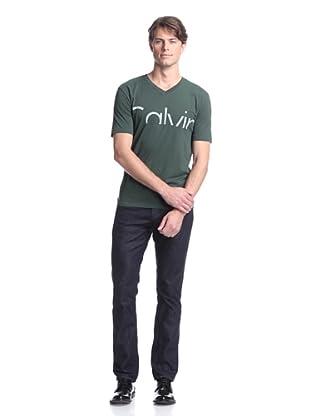 Calvin Klein Collection Men's Logo Tee (Dark Green)