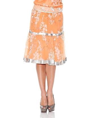 Monoplaza Falda Flores (Naranja)