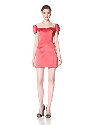 ABS by Allen Schwartz Women's Off Shoulder Bow Dress (Garnet)