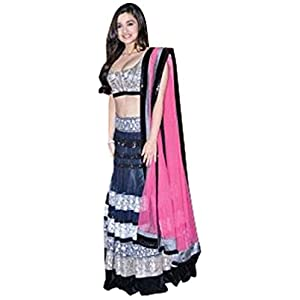 Oswal Saree Collection Black Net Embroidary Work Saree