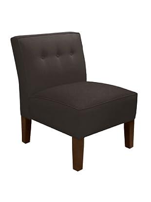 Skyline Three Button Armless Chair, Charcoal