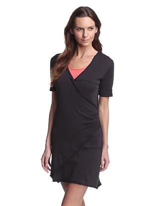 SKIN Women's Jersey Faux Wrap Dress (Black)