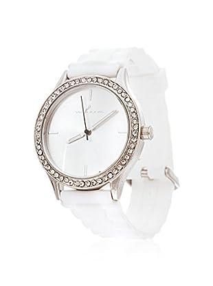 VIANOVA Women's NWX174451WT-Z White/Silver-Tone Rubber Watch