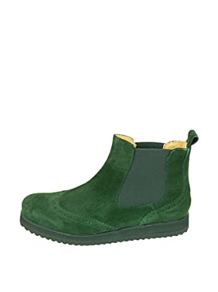 Za-patitos Botines Chelsea Serraje (Verde / Negro)