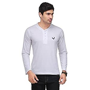 Phoenix White Henley Men T shirt fsp