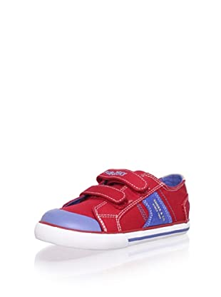 Pablosky Kid's Double-Strap Sneaker (Twill Red)