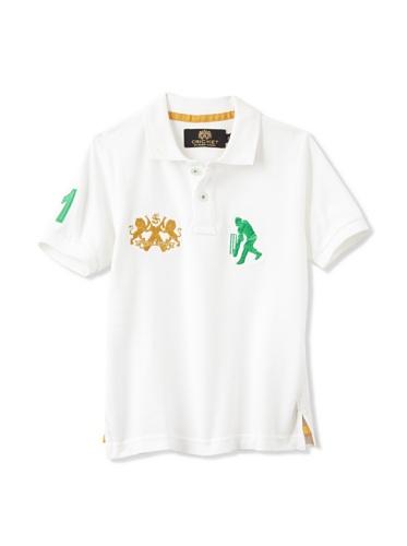 Sher Singh Boy's Classic Polo (White/Green)