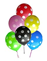 GrandShop 50227 Balloons Polka Dot Extra Large 12 Inch Multicolor (Pack of 25)