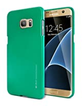 Galaxy S7 EDGE Case, [Ultra Slim Fit] Goospery® i-Jelly Case [Metallic Finish] Premium TPU Case Cover [Anti-Yellowing / Discoloring Finish] for Samsung Galaxy S7 EDGE - Metallic Green