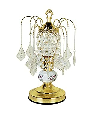 ORE International Ceramic Touch 1-Light Accent Lamp, Gold