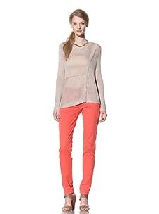 525 America Women's Asymmetrical Block Pullover (Linen)