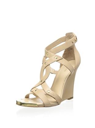 Pour La Victoire Women's Valen Wedge Sandal (Tan)