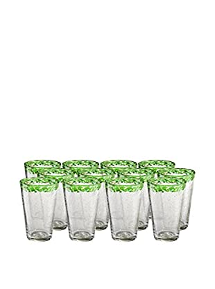 Artland Mingle Set of 12 Tumblers, Green