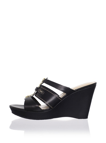 Rockport Women's Locklyn 3 Band Wedge Sandal (Black)