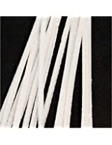 "100 White Chenille Stems (12"" x 6mm)"