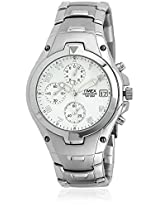 T27881 Silver/White Chronograph Watch Timex