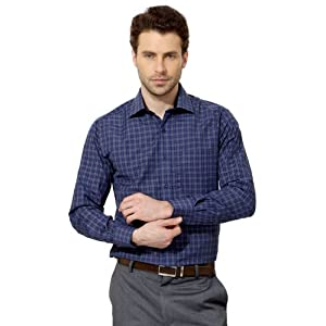 Peter England Checked Slim Fit Shirt