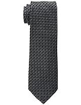 Haggar Men's Mini Neat Tie, Black/Grey, One Size