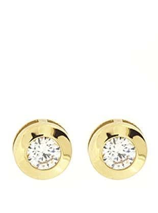 Gold & Diamond Pendientes Chatón 8 mm Circonita