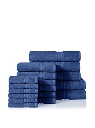 Chortex of England Hampton 17-Piece Towel Set, Delft Blue