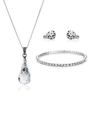 Diamond Style Set Kette, Anhänger, Armband und Ohrringe Drop Elizabeth