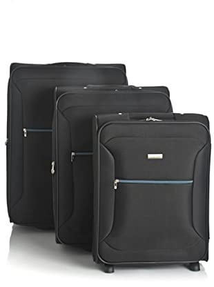 Roncato Set 3 trolley 2 ruote (Nero)