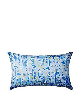 Nitin Goyal London Pixelated Triangles Silk Lumbar Pillow