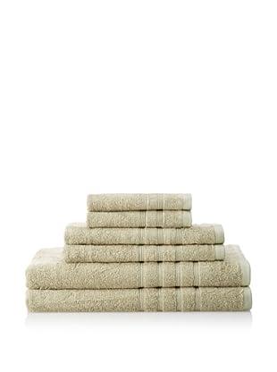 Pure Fiber 6-Piece Viscose from Bamboo Bath Towel Set (Sage Green)