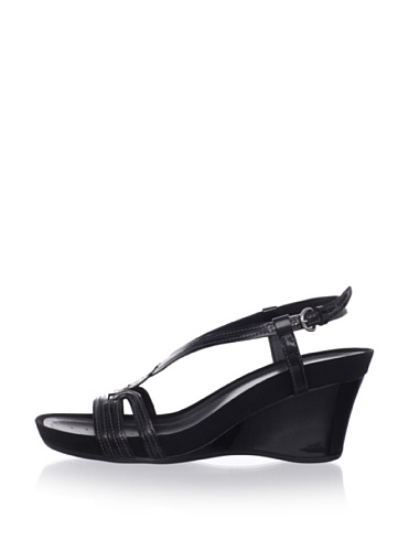 Geox Women's Roxy Slingback Wedge Sandal (Black)