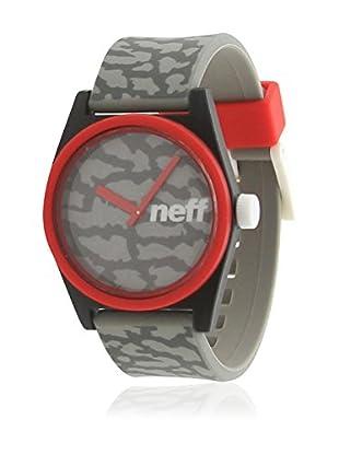 Neff Quarzuhr Duece rot/grau 35  mm