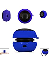 BLUE 3.5mm Audio Jack Portable Plug and Play Hamburger Rechargeable Mini Wired Speaker For SAMSUNG GALAXY BEAM I8530 Mobile Cellular Cell Phone