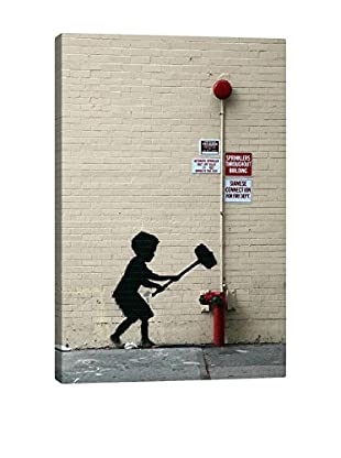 Banksy Hammer Boy Gallery Wrapped Canvas Print