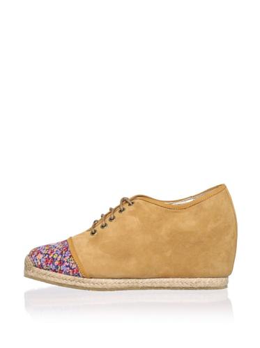 Charlotte Ronson Women's Fannie Sneaker (Camel Floral)