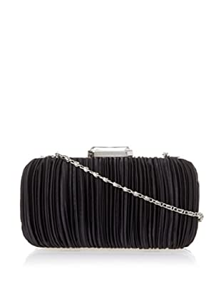 Jessica McClintock Women's Satin Pleated Minaudiere (Black)