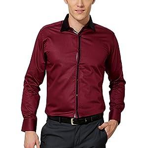 Van Heusen Men's Slim Fit Cotton Shirt [14929_Maroon_40]