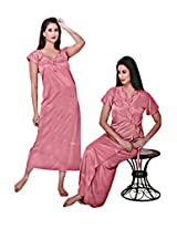 Indiatrendzs Sexy Hot Nighty Nighties Honeymoon Dress 2pc Set -Freesize
