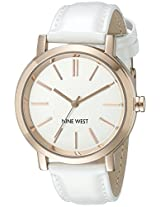 Nine West Women's NW/1706WTRG Analog Display Japanese Quartz White Watch