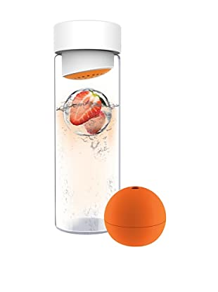 AdNArt Glass Water Bottle (Orange)