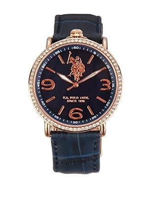 U.S. POLO ASSN. Uhr mit japanischem Quarzuhrwerk Olympia blau 38 mm