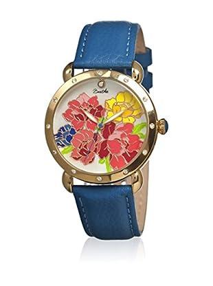 Bertha Uhr mit Japanischem Quarzuhrwerk Angela blau 41 mm